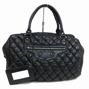 Balenciaga Quilted Black Leather Boston 870741